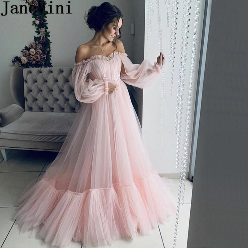 JaneVini 2019 Fashion Pink Plus Size