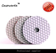 4 inch 100mm 2018 hot sale dry use of diamond flexible 3 step polishing pad,for stone and marble granite(China)