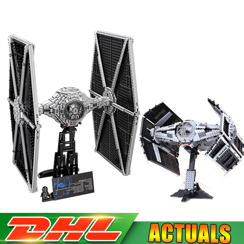 Lepin 05055 05036 Star Wars The Rogue USC Vader TIE Advanced Fighter Building Blocks Bricks Compatible LegoINGlys 10175 75095 lepin 05055 1212pcs star wars vader tie advanced fighter building block toys figure gift for children compatible legoe 10175