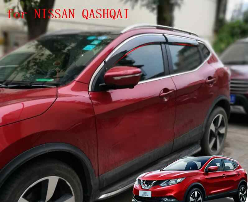 ACCESSORIES SIDE WINDOW RAIN DEFLECTORS GUARD VISOR WEATHERSHIELDS DOOR SHADE WEATHER FOR NISSAN QASHQAI J11 J10 2008- 2016