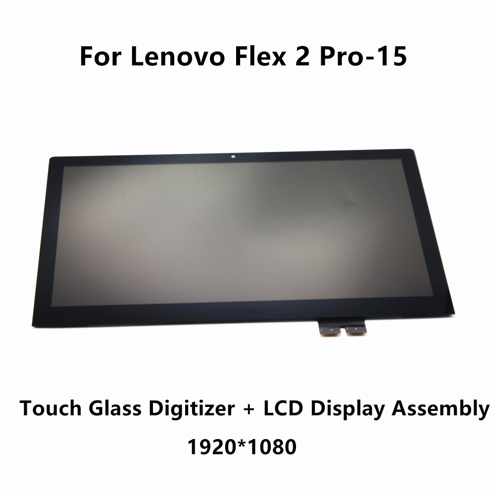 15.6'' Touch Glass Digitizer + FHD LCD Display Screen Panel Assembly +Frame LP156WF4 SPL1 For Lenovo Flex 2 Pro 15 80FL 80K8