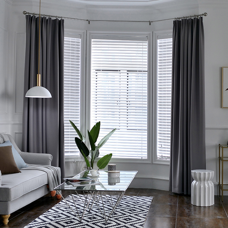 Single Panels Solid Blackout Curtains For Bedroom Modern Living Room Decoration Polyester Kitchen Curtains Short Mega Promo D5d5 Cicig