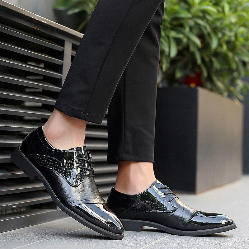 Robe slip Sneakers Doux Lacets Non Chaussures Cuir Confortable Noce Air De Hommes Black K3 En Casual À Homme Plein D'affaires 6qg5z