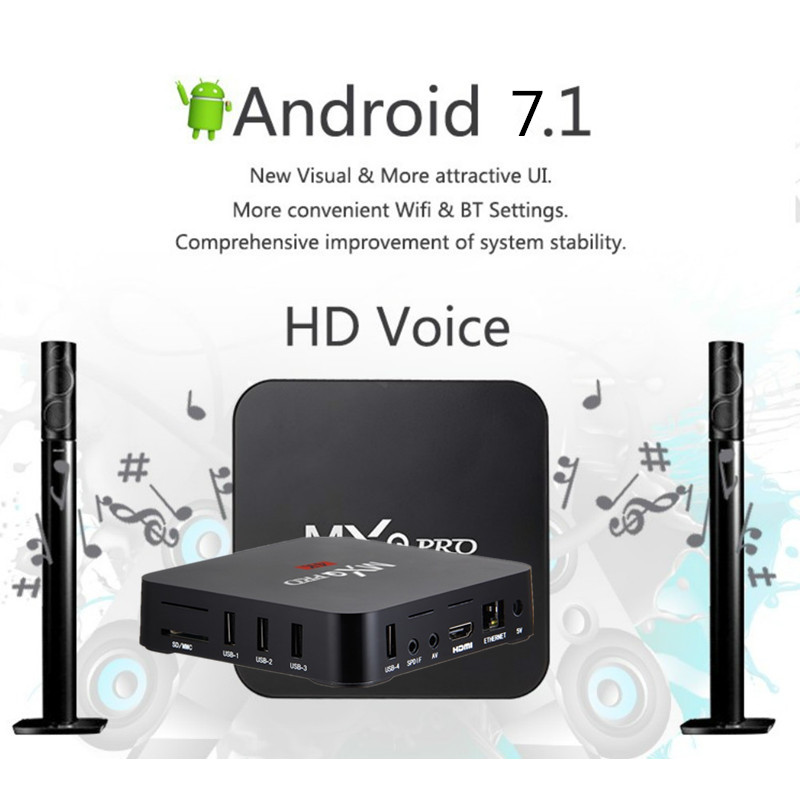 Image 2 - MXQ pro 4K Android TV Box 2G 16G Smart BOX Android 7.1 4K HD 3D 2.4G WiFi RK3229 Quad Core Media Player smart tv android tv box-in Set-top Boxes from Consumer Electronics