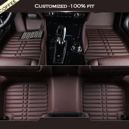 Custom Car Mats For Volvo C30 S40 S60L V60 V40 XC60 XC90 Artificial Leather Carpet liner 3d styling car seat cover for volvo c30 s40 s60l v40 v60 xc60 xc90 high fiber leather