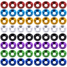 80PCS Lot Aluminum M4 Countersunk Washer Flat Head Screws Bolts For Hobby RC Model Car Quadcopter