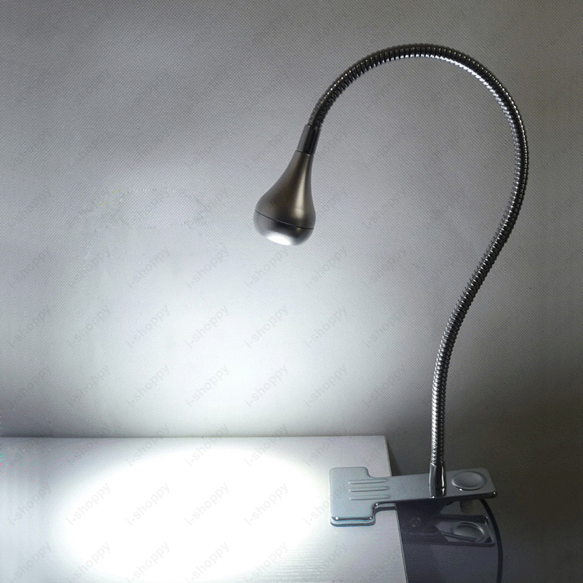 Led Light Fixture With Switch: 3W LED Table Light Clamp Clip Picture Lamp Fixture ON/OFF