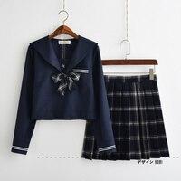 soft sister JK uniform skirt snowflake navy sailor suit class uniforms uniforms students graduation suits college wind suit