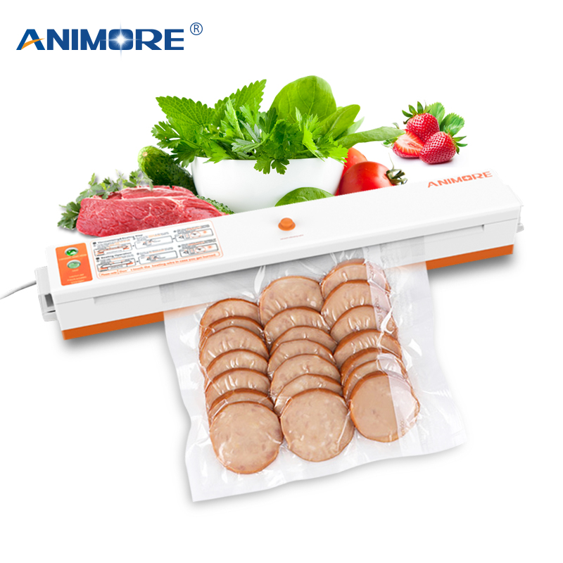 ANIMORE Ménage Vide Alimentaire Scellant US-110V/EU-220V Machine D'emballage Film Scellant Vide Packer Y Compris 10 pcs Sacs VFS-02B