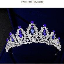 Pearl Bridal Crowns Handmade Tiara Bride Headband Crystal Wedding Diadem Queen Crown Wedding Hair Accessories WEIJUN все цены