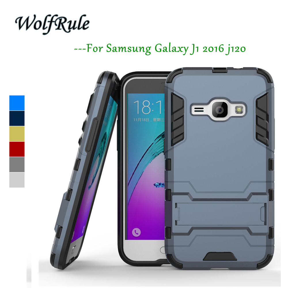 WolfRule For Samsung Galaxy J1 2016 Cover Silicon + Slim Plastic Case sFor Samsung Galaxy J1 2016 Case J120 For Samsung J1 2016<
