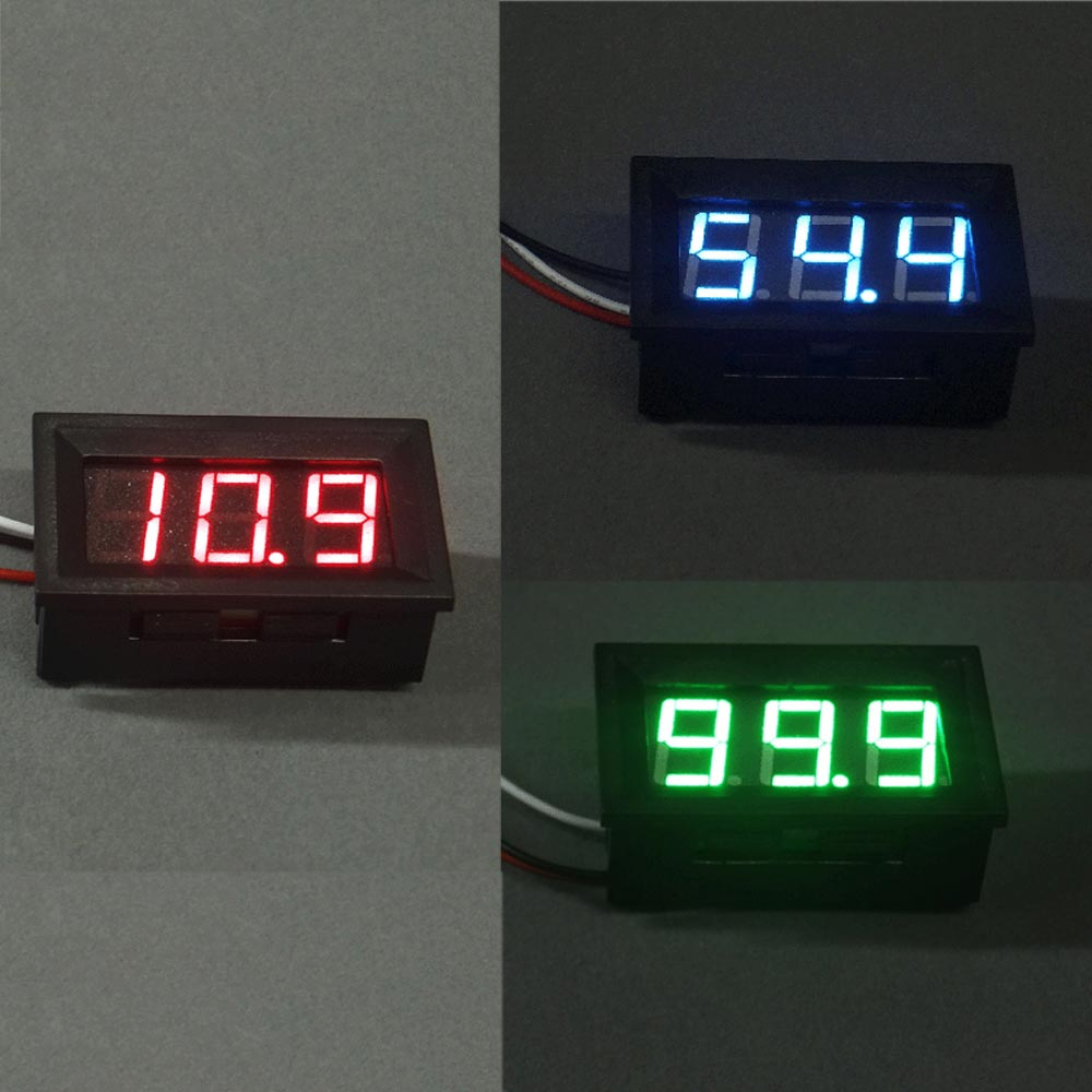 Quality LCD DC 0-100V Red/Blue LED Panel Meter Digital Voltmeter with Three-wire Electrical Instruments Voltage Meters--M25 kumho wintercraft wp51 185 65 r15 88t