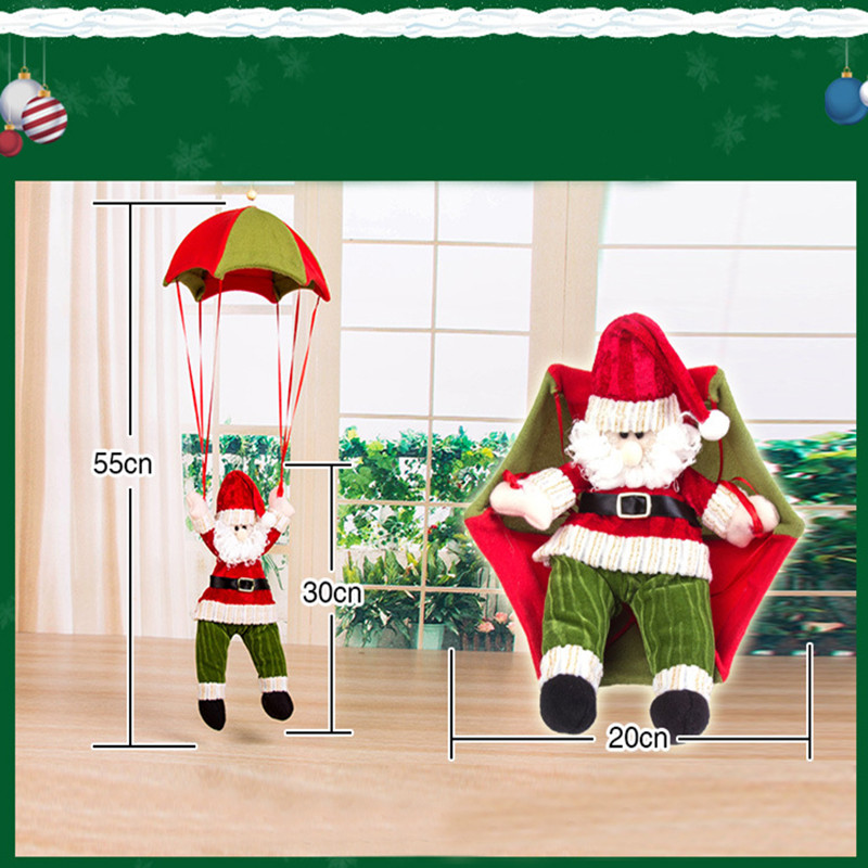 Christmas Home Ceiling Decorations Parachute Santa Claus Snowman New Year Hanging Pendant Decoration Supplies In Party DIY From