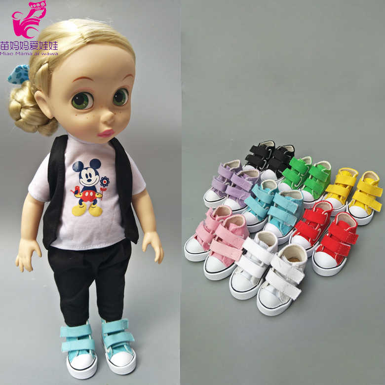 doll shoes Canvas Mini Toy Shoes for 16 inch sharon doll textile cloth DIY Doll Sneackers