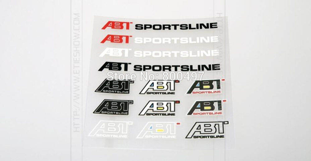 10 x Newest Car Styling ABT Decal Decoration Stickers for Audi ABT A1 A3 A4 A5 A6 A7 TT R8 Q3 Q5 Q7 free ship turbo k03 29 53039700029 53039880029 058145703j n058145703c for audi a4 a6 vw passat 1 8t amg awm atw aug bfb aeb 1 8l