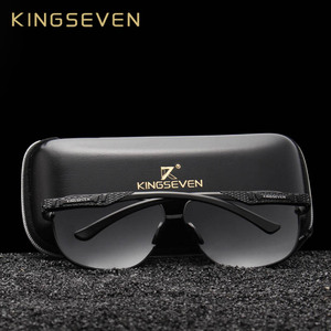 Image 2 - KINGSEVEN New Aluminum Brand New Polarized Sunglasses Men Fashion Sun Glasses Travel Driving Male Eyewear Oculos N7188
