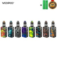 Stock Voopoo Drag 2 Platinum 177W TC Kit electronic cigarette With Uforce T2 Powered By Dual 18650 Vape Vaporizer VS Shogun/X217