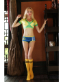 New Women Fantasy Football Costume Sport Costume Cheerleader Costume For Women Top+Shorts