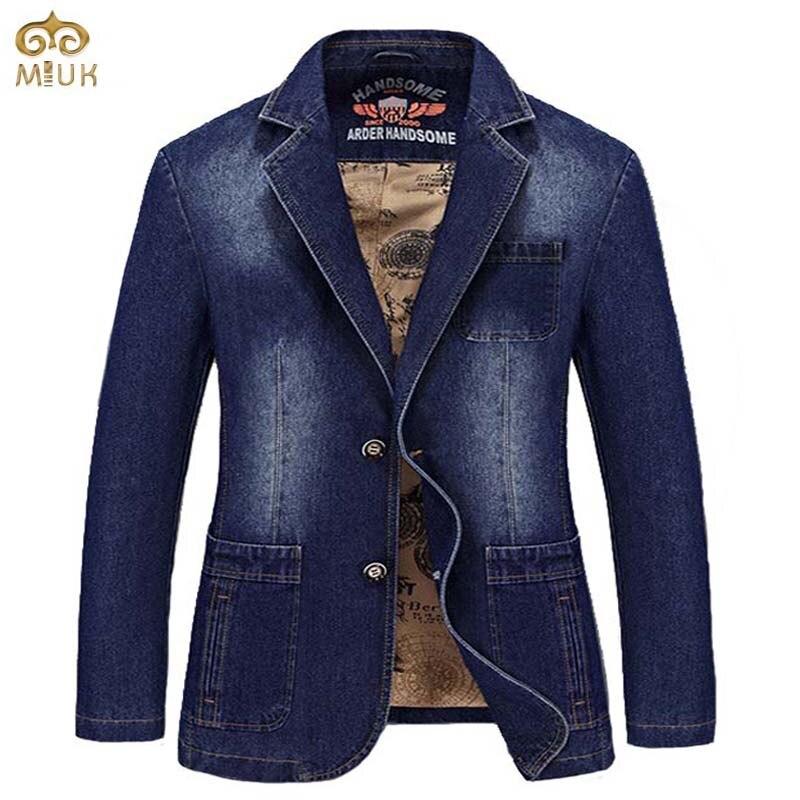 HOT 2017 New Spring Black Blue Brand Men Blazer Men Trend Jeans Suits Casual Suit Jean
