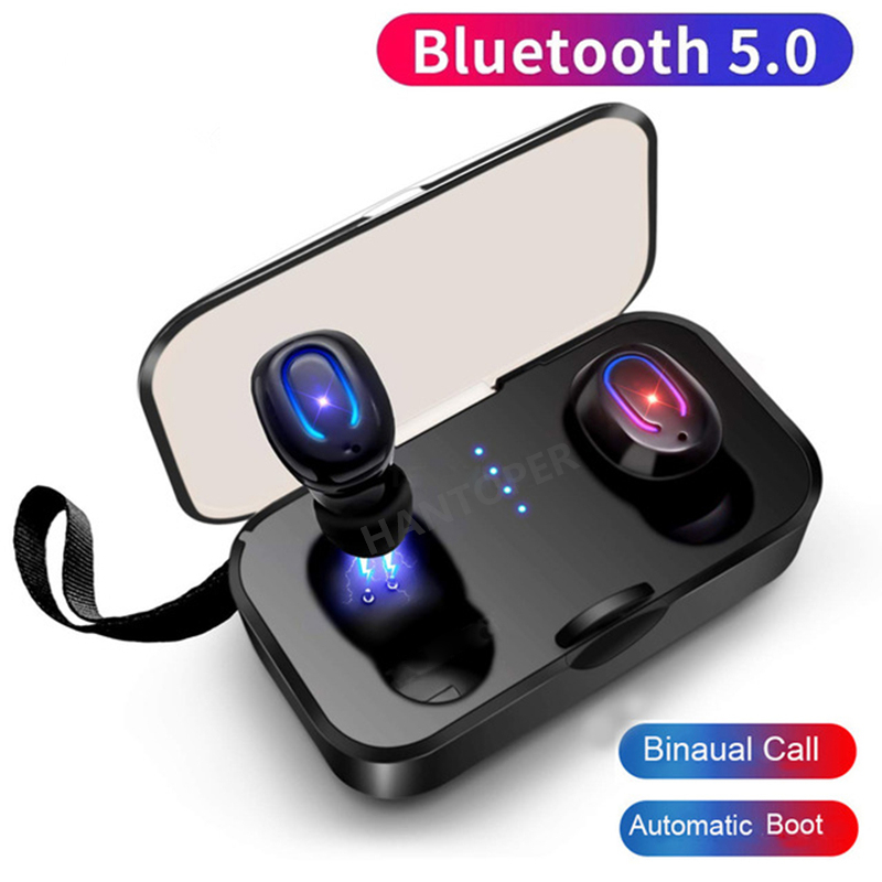 HANTOPER T18S Invisible Wireless Earbuds Bluetooth Earphone 5.0 TWS Mini Bluetooth Headset Wireless Stereo Earhones Android ISO Головная гарнитура
