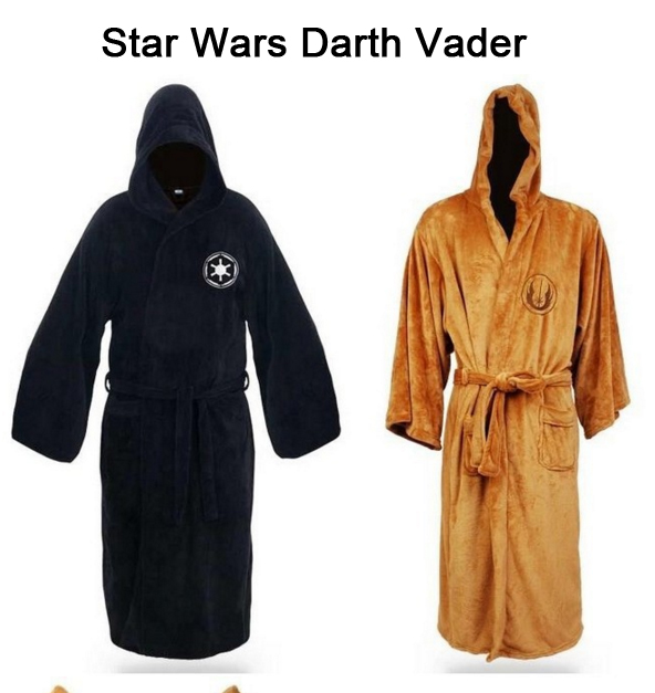 Star Wars Darth Vader Coral Fleece Terry Jedi Adult Bathrobe Robes Halloween Cosplay Costume For Men Sleepwear