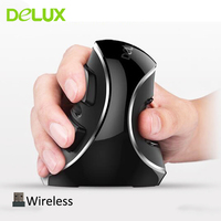 Delux M618 Plus Pure Vertical Ergonomic Wireless Mouse New 2018 Computer Mouse 2.4Ghz USB Optical Mice Gamer for PC Laptop