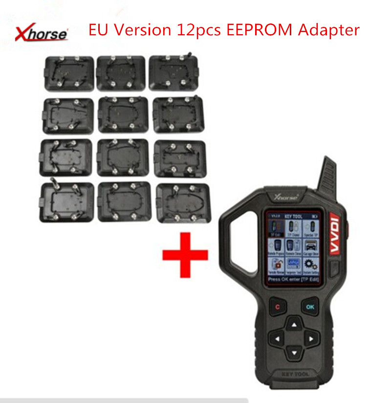 Original Xhorse VVDI Key Tool Remote Key Programmer With Full Set 12pcs EEPROM Adapter Fast Shipping
