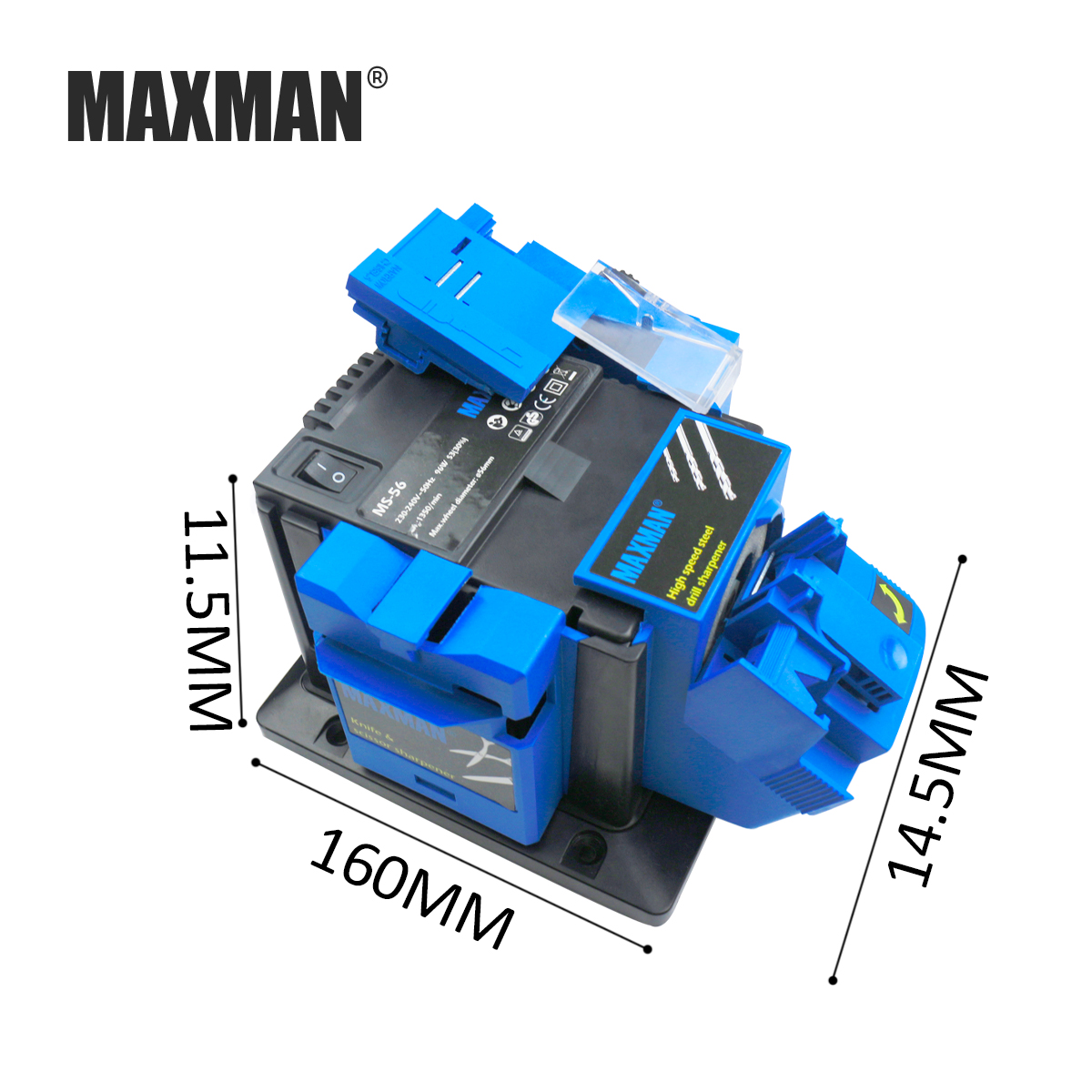 MAXMAN Professional Electric Knife Scissors Sharpener Chisel Plane Drill Sharpening Machine for Kitchen Knives Tool