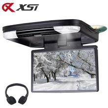 XST 15.6 Inç Araba Tavan DVD Aşağı Çevirmek Araba Çatı DVD Monitör DVD ile IR FM Verici HDMI port USB SD MP5 Oyuncu