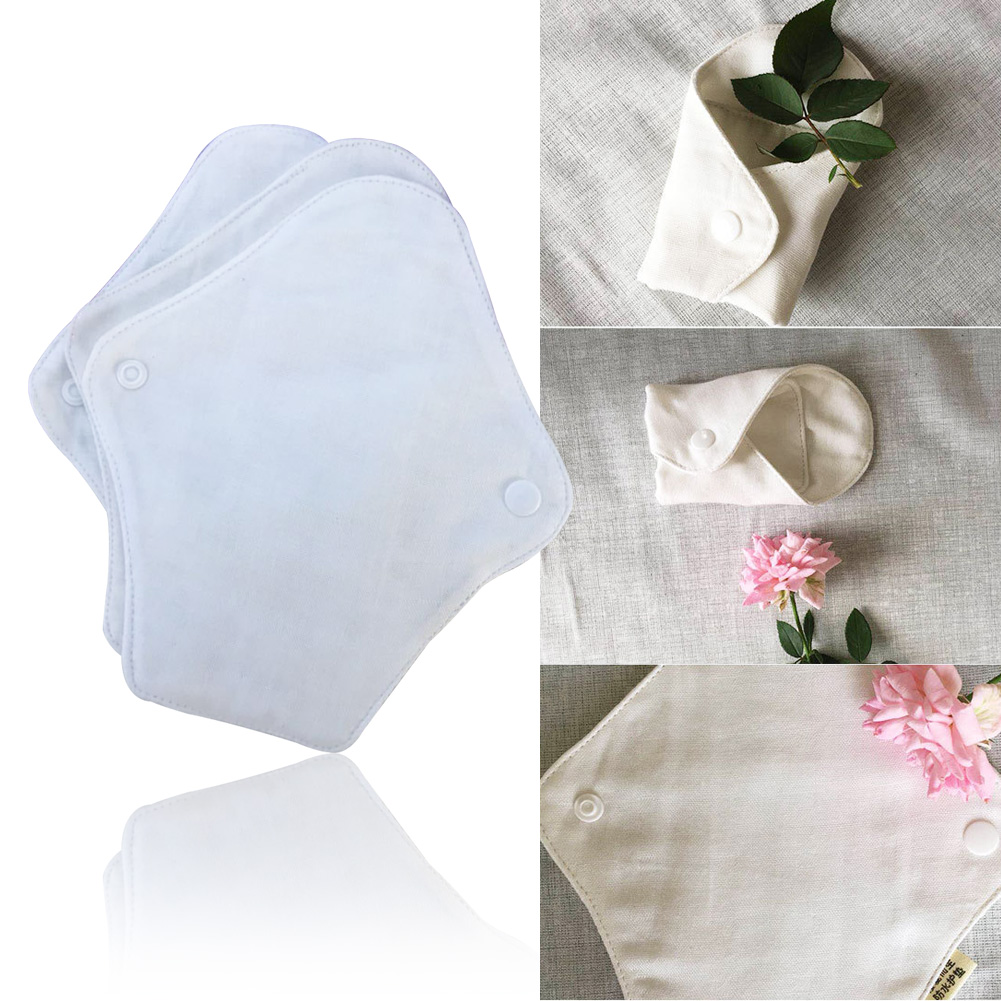 2Pcs Washable Menstrual Pad Mama Breathable Waterproof Feminine Hygiene Slim Bamboo Cloth Sanitary Napkin Towel Panty Liner Soft