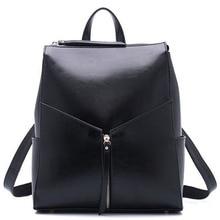 Hot! Luxury Cowskin Women's Backpack Bags Fashion Brand Genuine Leather Backpacks Women Shoulder Bag Lovely Lady Mochila 2016