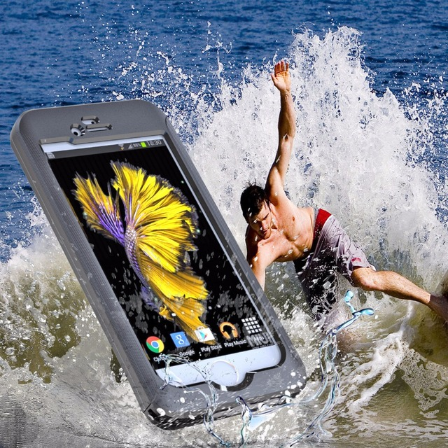 3 meters Waterproof PET case for iPhone 6 6s plus Case Full frost Outdoor Sports case for iPhone 7 plus case cover mobile phone
