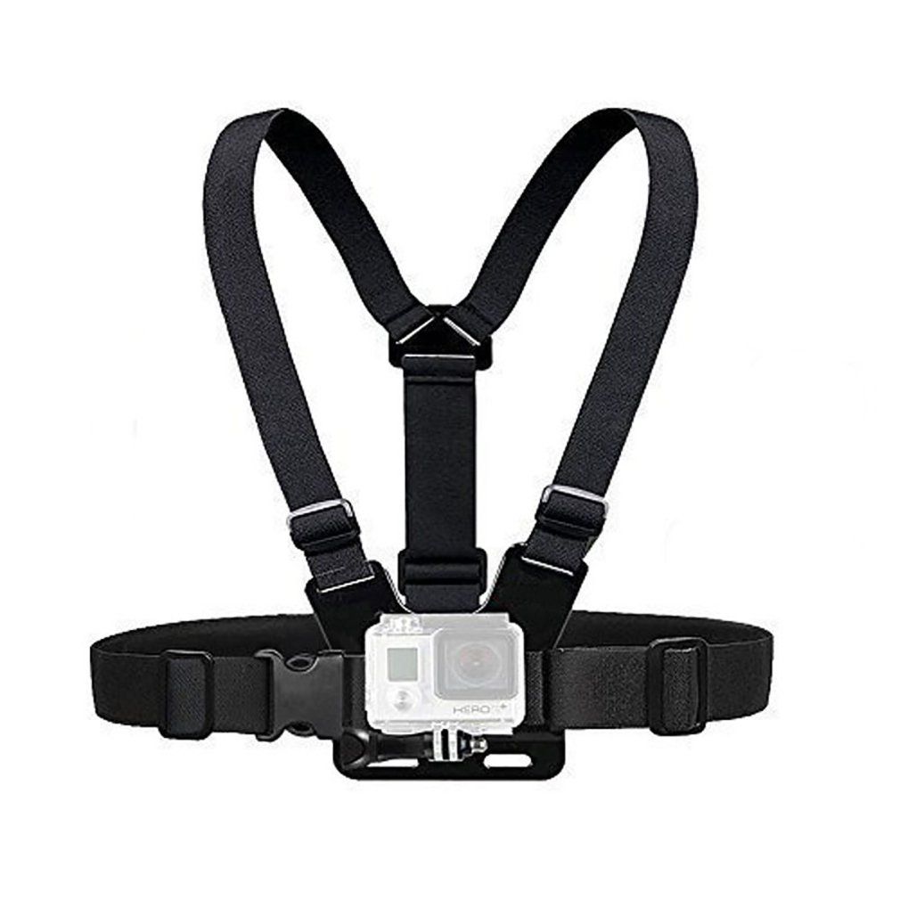 For Gopro Chest Strap Double Shoulder Strap Sports Camera Chest Fixing Accessories Perforated Chest Strap