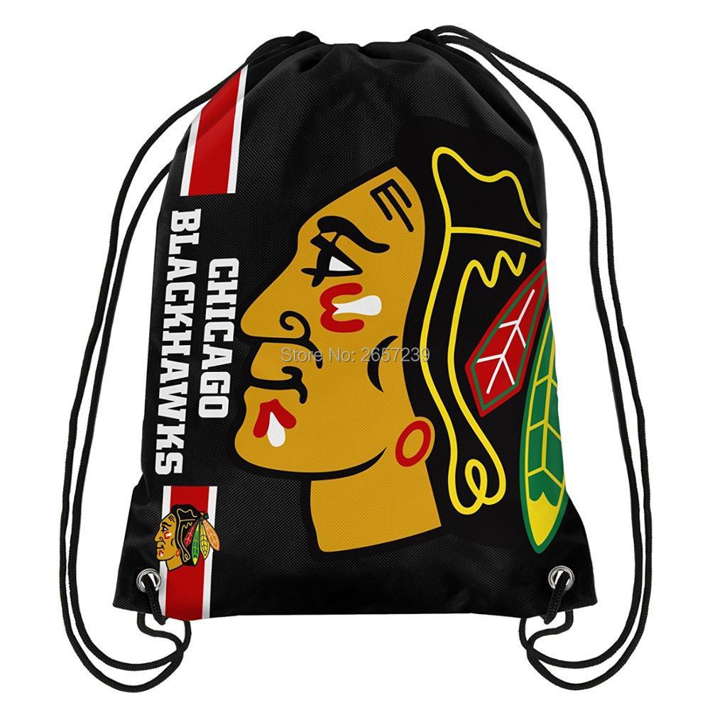 Chicago Black hawks Drawstring Backpack Digital Printing Pouch NFL ...