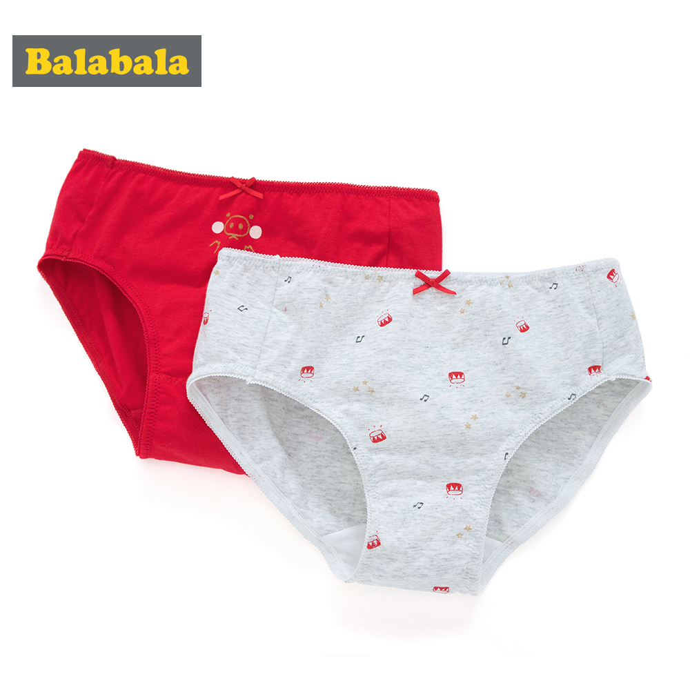 Balabala 2-Pack Cotton Soft Panties For Teenager Boys Puberty Boy Cute Cartoon Printed Underwear Boxers Briefs Calcinha Majtk