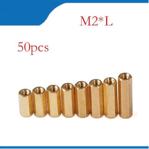 50Pcs M2*4-20mm Copper Standoff Screw Spacer Circular Double-pass Pillars Security Surveillance Cameras Spacing Screws HW037 m2 5x21mm 22mm 23mm 25mm 30mm 35mm 37mm 40mm 10pcs lot six corner spacer hexagonal aluminum column standoff post screws