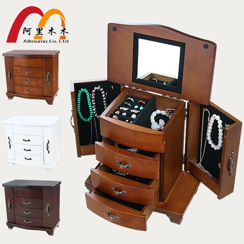 Organizador Joyero Real Princesa de madera Europea Retro Colección - Organización y almacenamiento en la casa
