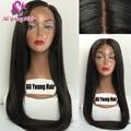 Длинные Волосы 4x4 Шелковые Топ Glueless Полные Парики Шнурка Необработанные Virgin бразильские Человеческие Волосы Шелк База Кружева Перед Парики Для Чернокожих Женщин