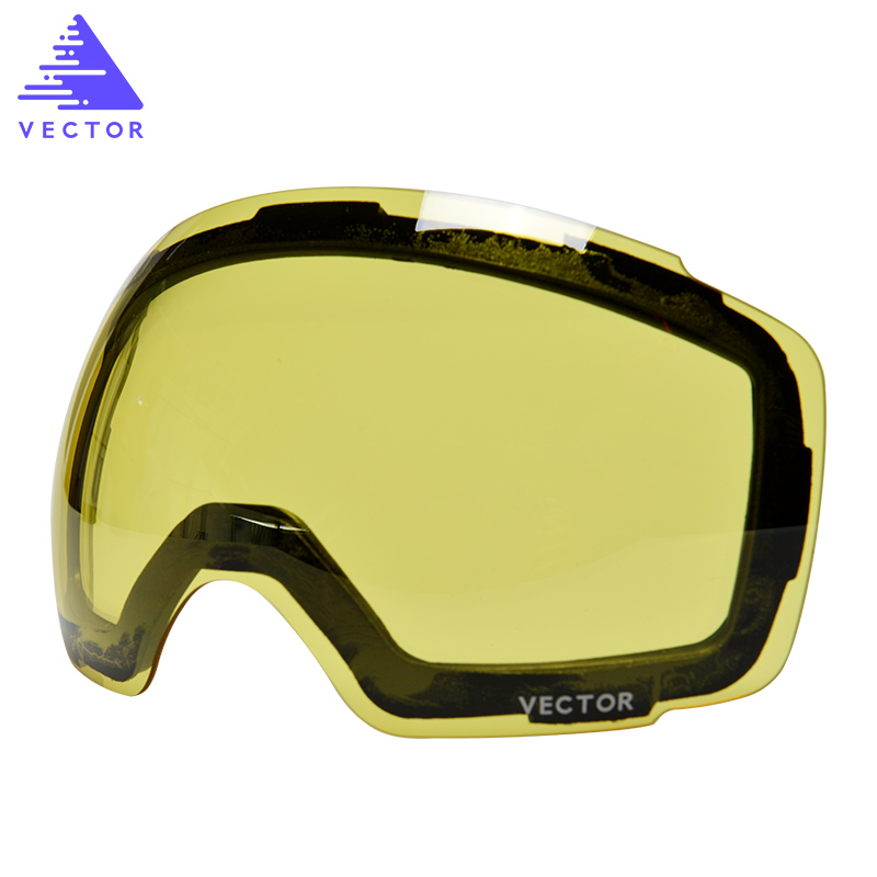 Anti-fog UV400 Skiing Goggles Lens Magnet Adsorption Weak Light tint Weather Cloudy Brightening Lens For HXJ20013  (Only Lens)