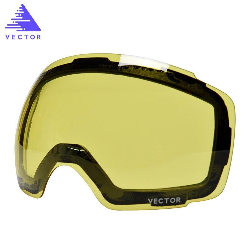 Anti-nebel UV400 Skifahren Brille Objektiv Magnet Adsorption Schwach Licht farbton Wetter Bewölkt Aufhellung Objektiv Für HXJ20013 (Nur objektiv)