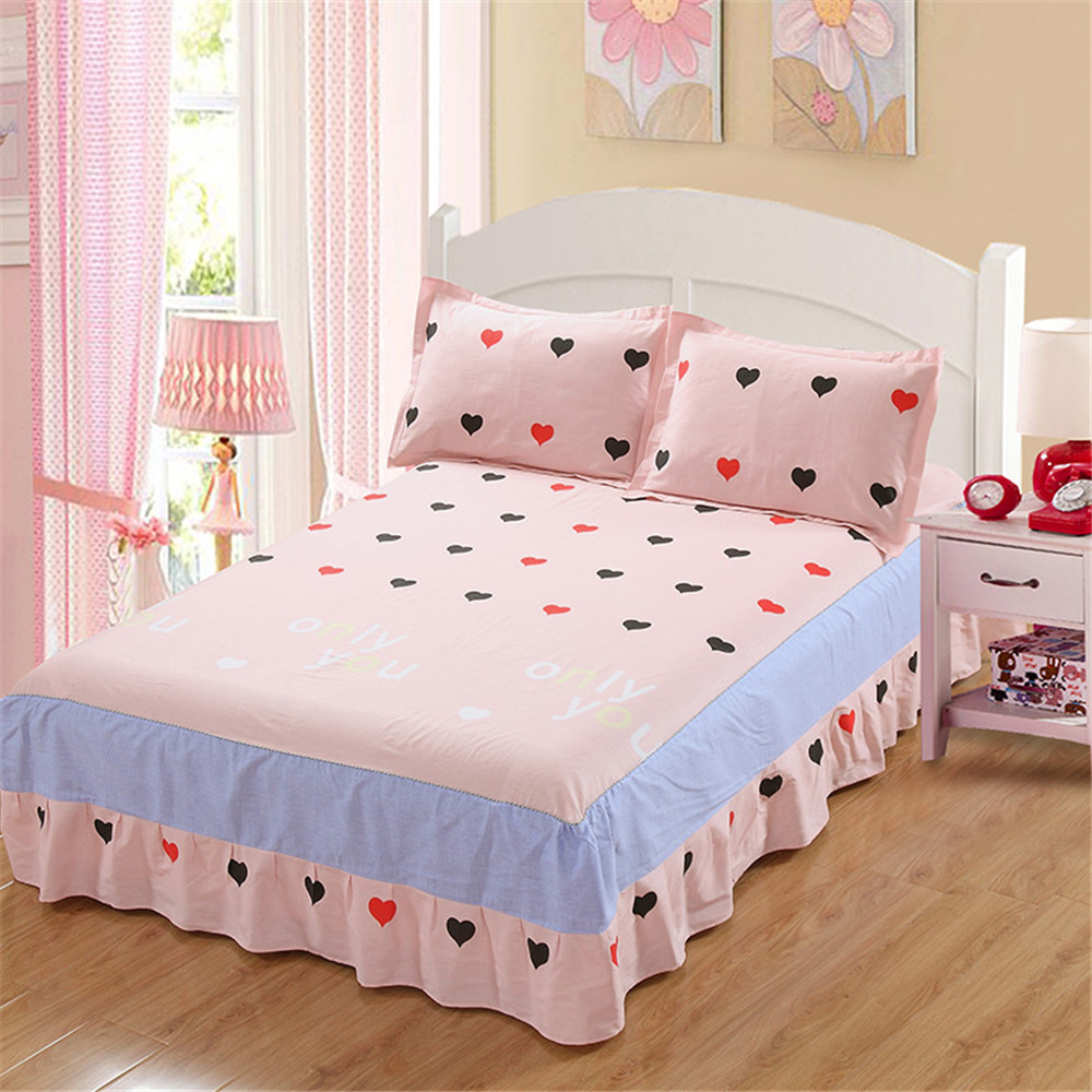 aliexpress com buy lovely princess pink black cute 100 cotton bed