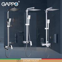 GAPPO Shower Faucets Bathroom Shower Faucet Bath Shower Mixer Faucet Taps Rain Shower System Waterfall Bath Faucet Mixer Taps
