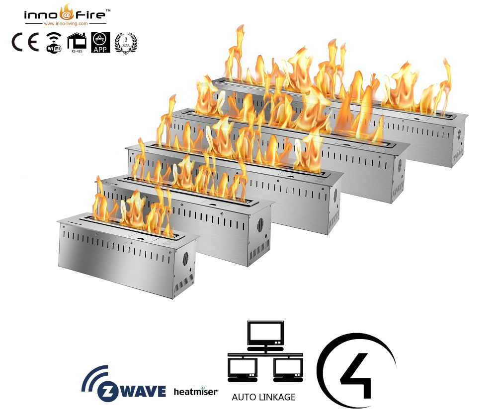 Inno Living 24 Inch  Remote Bioethanol Fire Fireplace For Interior Decoration