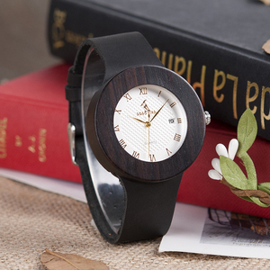 Image 4 - BOBO BIRD Womens Watches Women Retro Wooden Ladies Wristwatch relogio feminino with Black Leather Straps Calendar