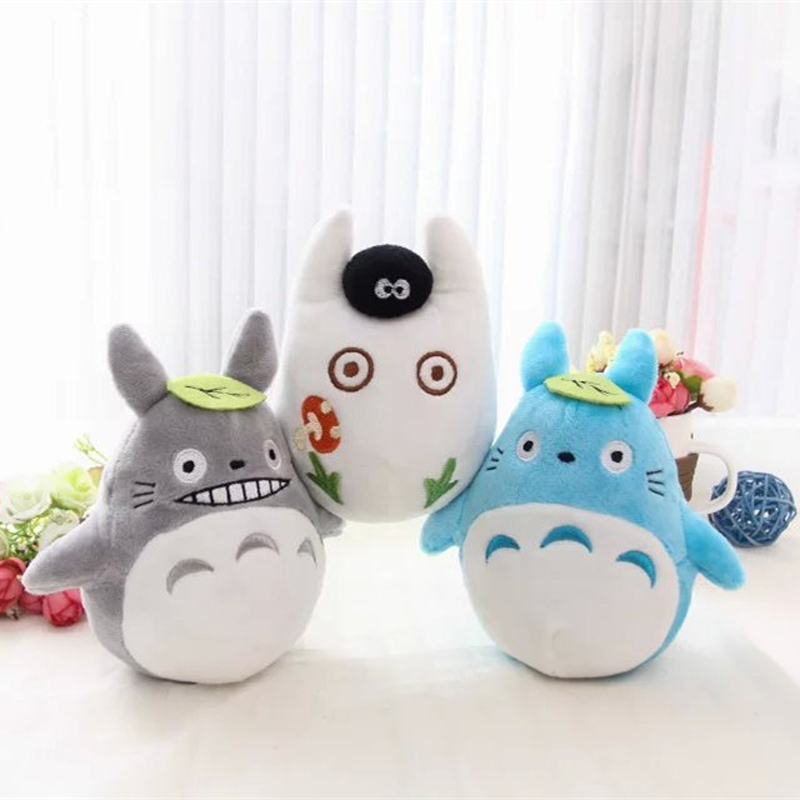 Cute 15cm Totoro Plush Japanese Anime Miyazaki Hayao My Neighbor Totoro Stuffed Plush Toys Doll for Kids Children Christmas Gift 1set miyazaki hayao my neighbor anime totoro figure totoro mei fairy dust resin action figure toy gifts for garden home decor