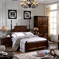 1.5meter or 1.8meter America style walnut bedroom furniture suite ash wood bed 5 days shipping out