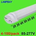 4-100/Paquete de luz de tubo LED 2ft 3ft 4ft 5ft 6ft bombilla de retroajuste T8 G13 bi-pin lámpara fluorescente 0,6 m 0,9 m 1,2 m 1,5 m 1,8 m barra de iluminación