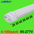 4-100/pack Luce Del Tubo Del LED 2ft 3ft 4ft 5ft 6ft Retrofit Lampadina T8 G13 Bi-pin lampada fluorescente 0.6 m 0.9 m 1.2 m 1.5 m 1.8 m Bar di Illuminazione