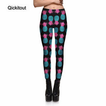 Qickitout Leggings Fitness Hot Top 2017 Women's Legging Gorgeous Pineapple Cartoon Fresh Fruit Stretch Print Pants Cool Trousers(China)