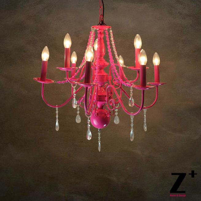 online kaufen gro handel rosa kronleuchter lampe aus china. Black Bedroom Furniture Sets. Home Design Ideas